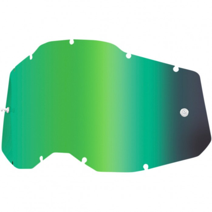 100% REPLACEMENT LENS GREEN MIRROR