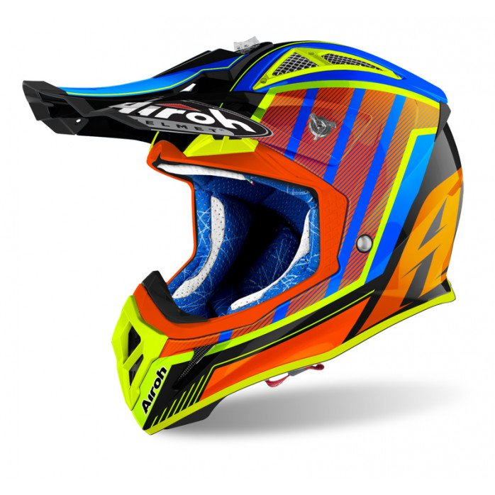 Airoh Helmet Aviator 2.3 AMSS Glow chrome orange L