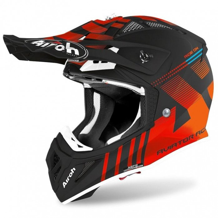 AIROH HELMET AVIATOR ACE NEMESI ORANGE GLOSS XS