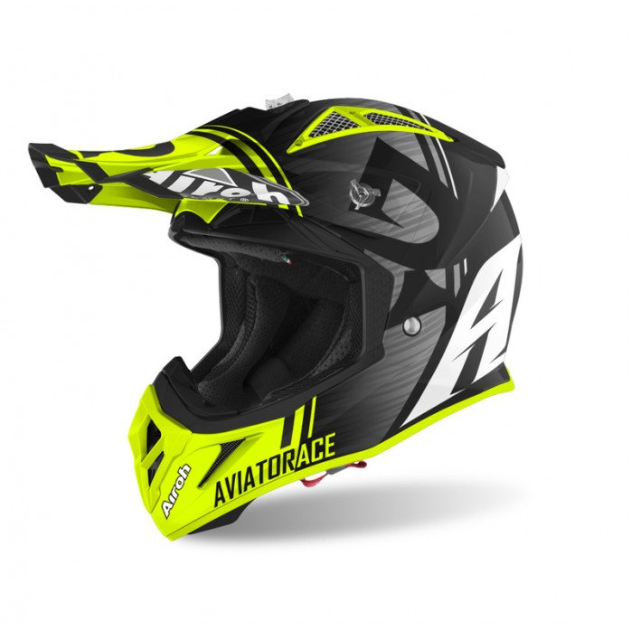 Airoh Helmet Aviator Ace Kybon yellow matt XS