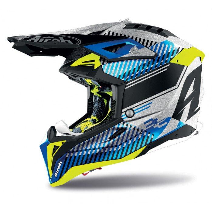 Airoh Helmet Aviator 3 Wave silver gloss XS