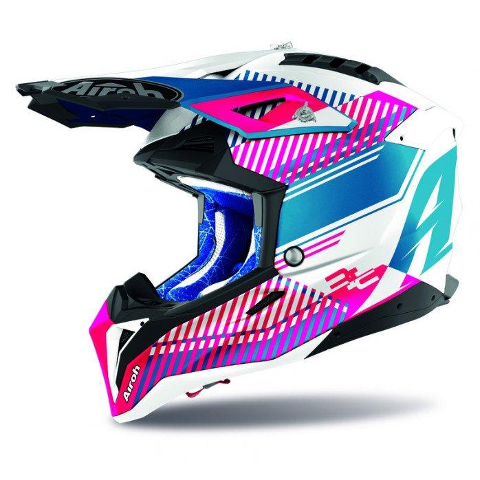 Airoh Helmet Aviator 3 Wave pink gloss M