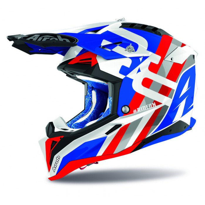 Airoh Helmet Aviator 3 Rainbow blue/red gloss 2XL