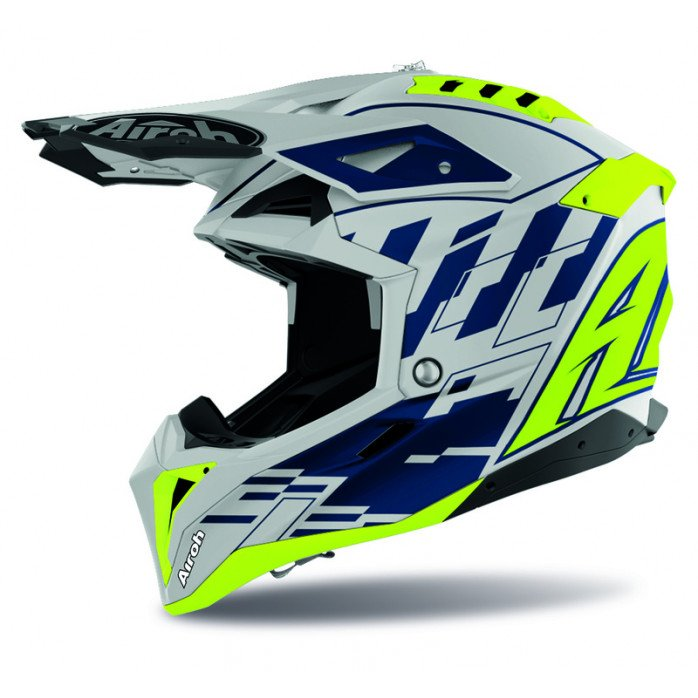 Airoh Helmet Aviator 3 Rampage blue gloss L