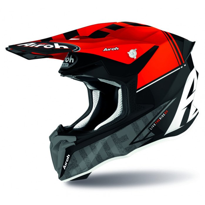 AIROH HELMET TWIST 2.0 TECH RED GLOSS XXL