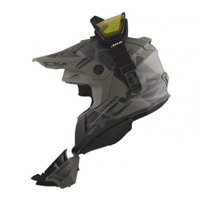 CKX Helmet + Goggles TITAN Climb Matt grey 2XL