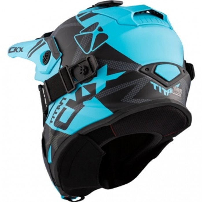 CKX Helmet + Goggles TITAN Climb Mat Light Blue XL