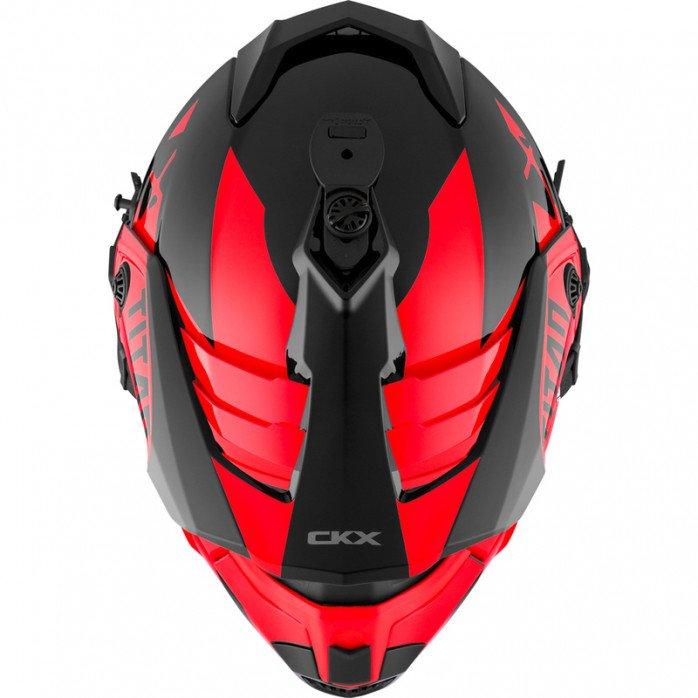 CKX Helmet + Goggles TITAN Airflow Extra Red 2XL