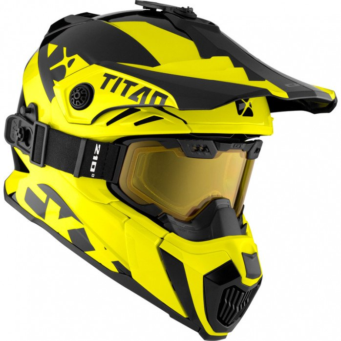 CKX Helmet + Goggles TITAN Airflow Extra Yellow XS