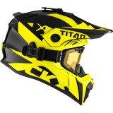 CKX Helmet + Goggles TITAN Airflow Extra Yellow 2XL