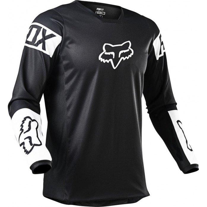 FOX 180 REVN MARŠKINĖLIAI  BLACK/WHITE XL