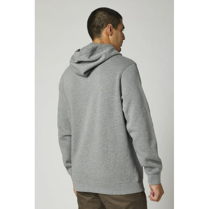 FOX PULLOVER FLEECE HEATHER GRAPHITE M