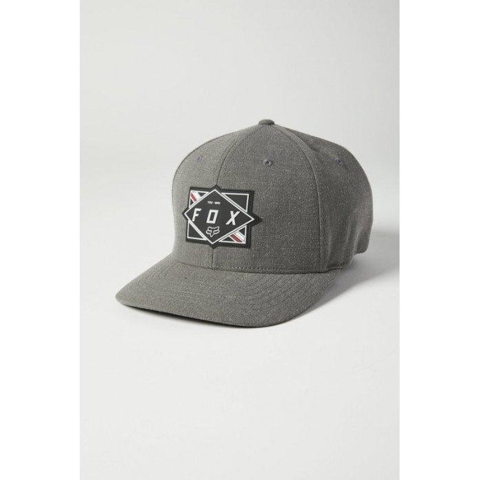 FOX BURNT FLEXFIT HAT PEWTER L/XL