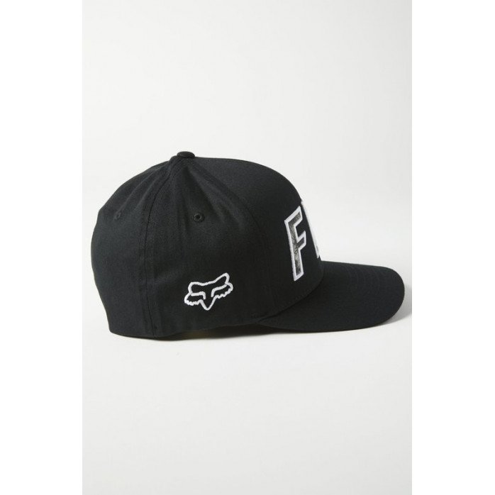FOX DOWN N DIRTY FLEXFIT HAT BLACK/WHITE S/M