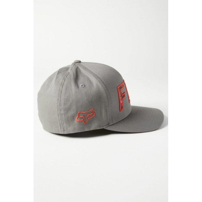 FOX DOWN N DIRTY FLEXFIT HAT PEWTER L/XL