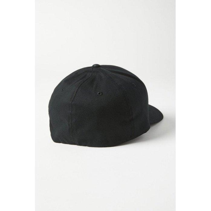 FOX ELLIPSOID FLEXFIT HAT BLACK/RED S/M