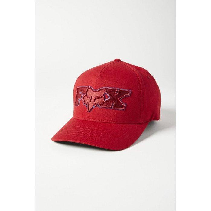 FOX ELLIPSOID FLEXFIT HAT RED L/XL