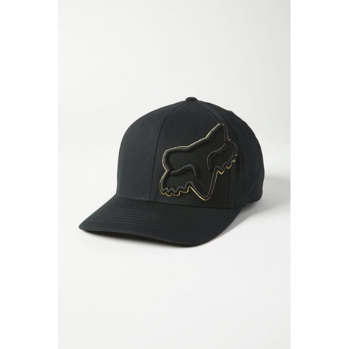 FOX EPISCOPE FLEXFIT HAT BLACK/YELLOW L/XL