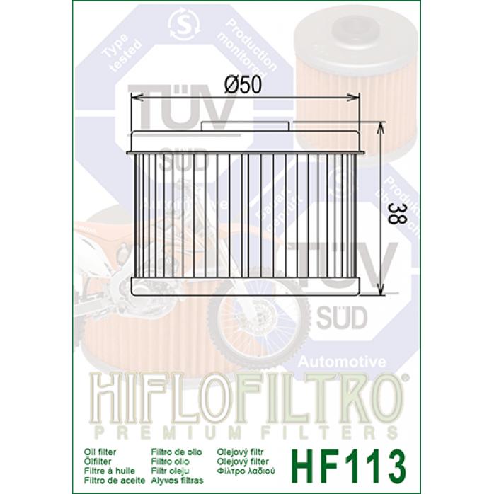 Tepalo filtras HIFLO HF113