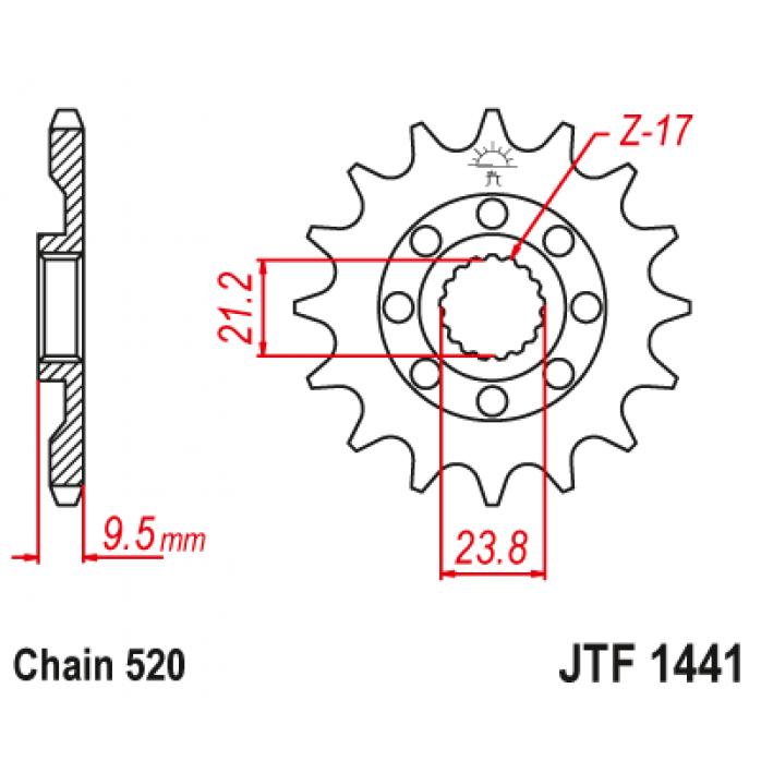 Priekinė žvaigždutė JTF1441.14SC