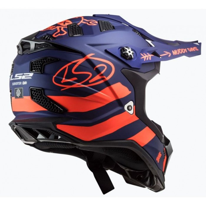 LS2 Helmet MX700 Subverter Cargo Matt Blue/Fluo Orange M