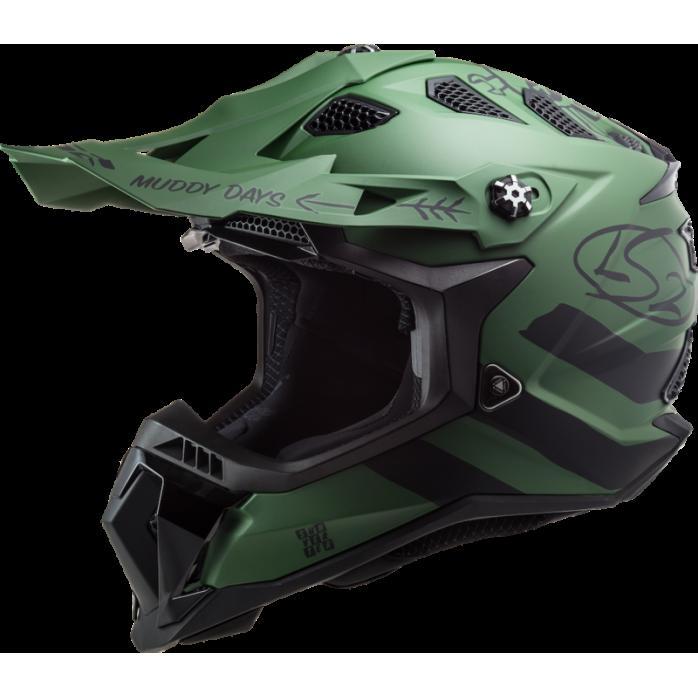LS2 Helmet MX700 Subverter Cargo Matt Military Green S