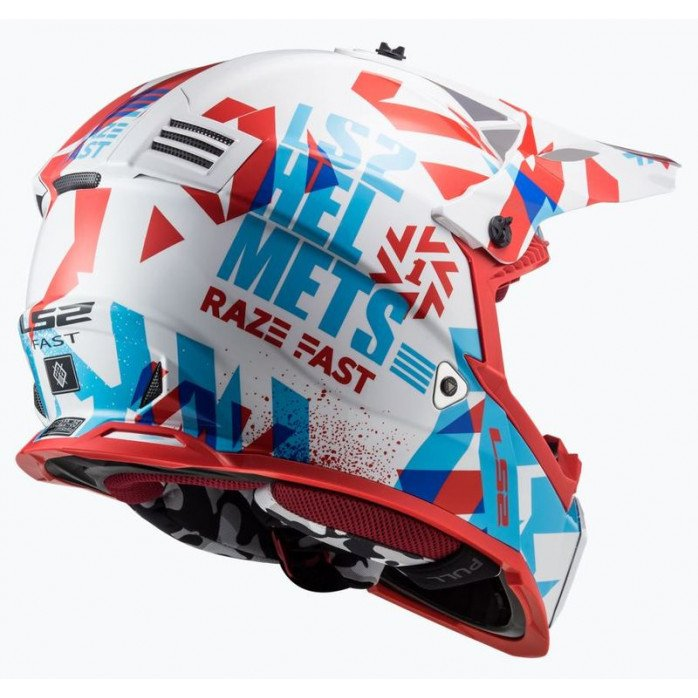 LS2 Helmet MX437J Fast Evo Mini Funky Red/White S