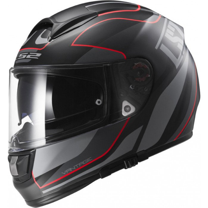LS2 Helmet FF397 VECTOR VANTAGE Matt Black/Red M