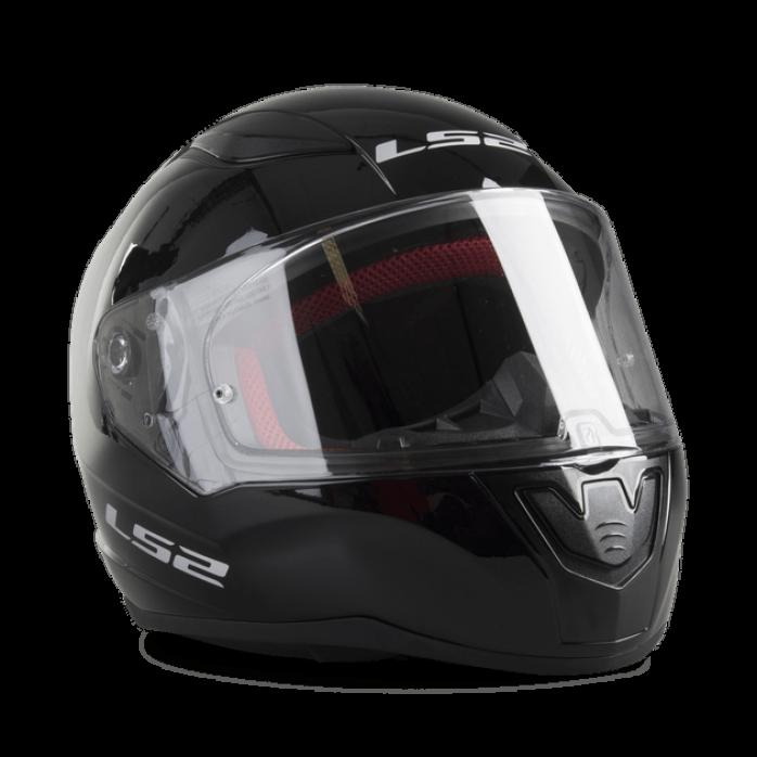 LS2 HELMET FF353 Rapid Single Mono Full Face Helmet Glossy Black M