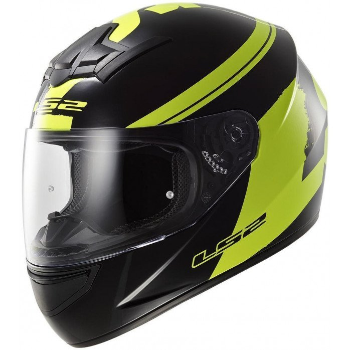 LS2 Helmet FF352 FLUO Black Hi-Vis Yellow XXL