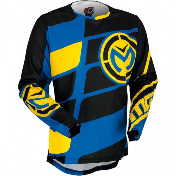 MOOSE RACING Jerseys Blue/Yellow/Black Md SIZE M