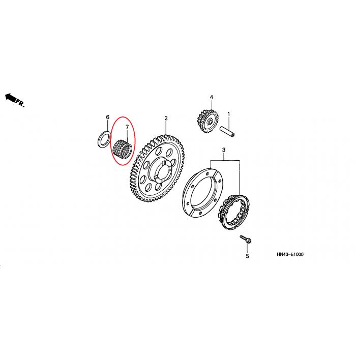 Starterio dantračio guolis HONDA TRX350 00-04