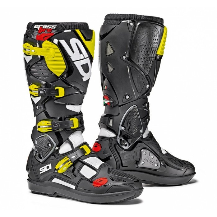 Sidi Crossfire 3 SRS MX boot white/black/fluor yellow 43