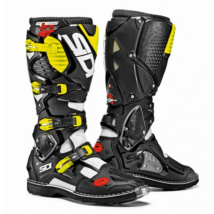SIDI Crossfire 3 MX Boots white/black/fl yellow 43