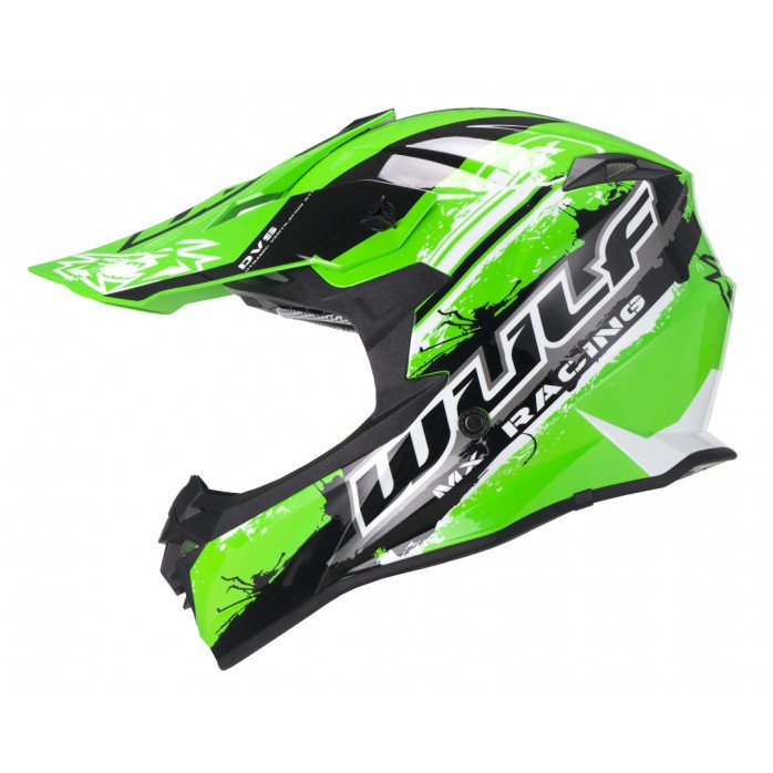 Wulfsport Off Road Pro Helmet YOUTH GREEN YL