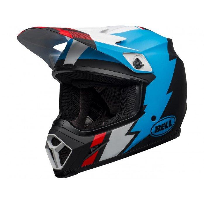 BELL MX-9 Mips Helmet Strike Matte Black/Blue/White Size XL