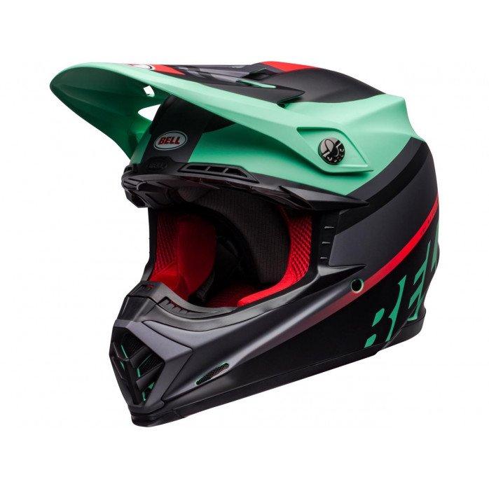 BELL Moto-9 Mips Helmet Prophecy Matte Green/Infrared/Black Size XL