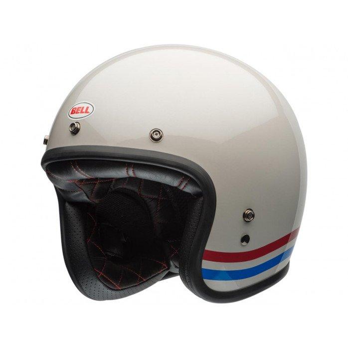 BELL Custom 500 DLX Helmet Stripes Pearl White Size S