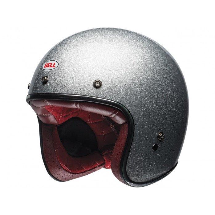 BELL Custom 500 DLX Helmet Gloss Silver Flake Size XL