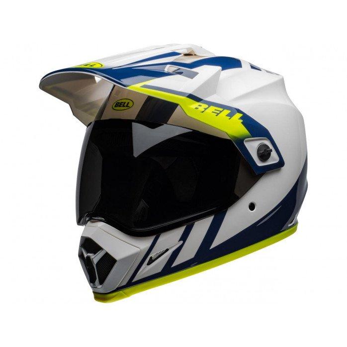 BELL MX-9 Adventure Mips Helmet Dash Gloss White/Blue/Hi-Viz Size XXL