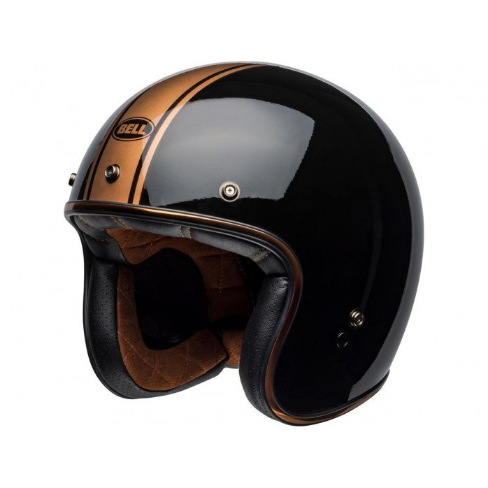 BELL Custom 500 DLX Helmet Rally Gloss Black/Bronze Size S