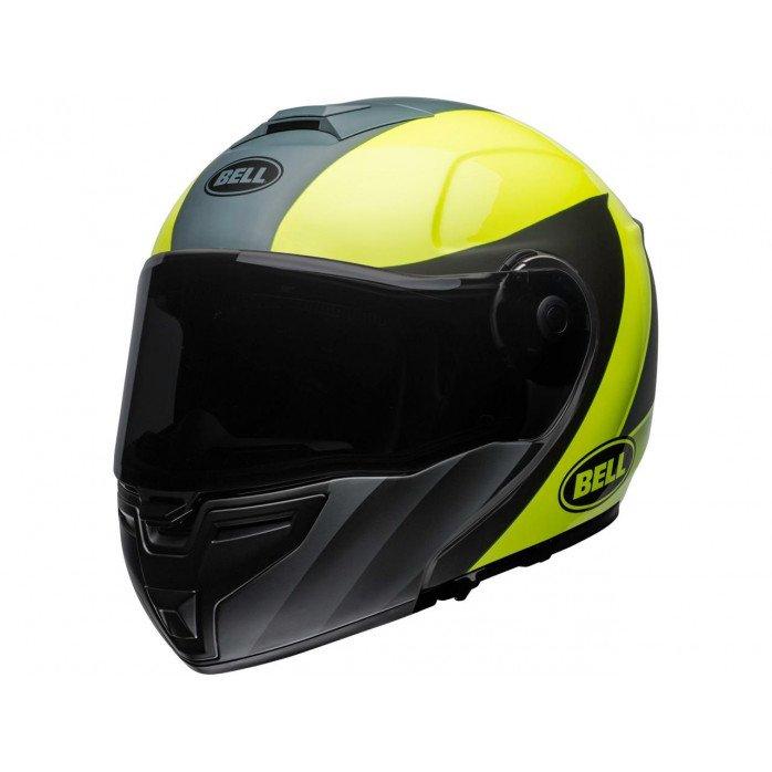 BELL SRT Modular Helmet Presence Matte/Gloss Grey/Neon Yellow Size XL