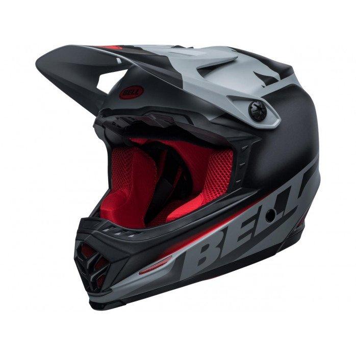 BELL Moto-9 Youth Mips Helmet Glory Black/Gray/Crimson Size YL/YXL