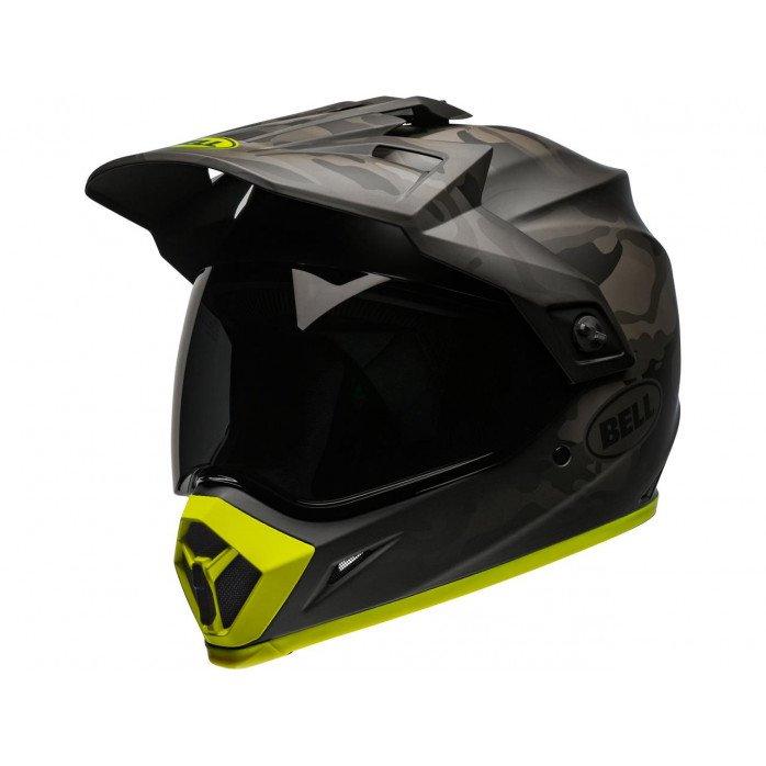 BELL MX-9 Adventure Mips Helmet Stealth Camo Matte Black/Hi-Viz Size S