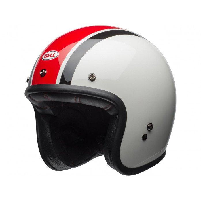 BELL Custom 500 Helmet Ace CafƩ Stadium Gloss Silver/Red/Black Size XS