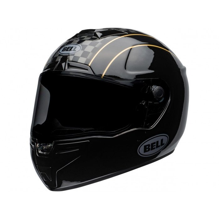 BELL SRT Helmet Buster Gloss Black/Yellow/Grey Size M