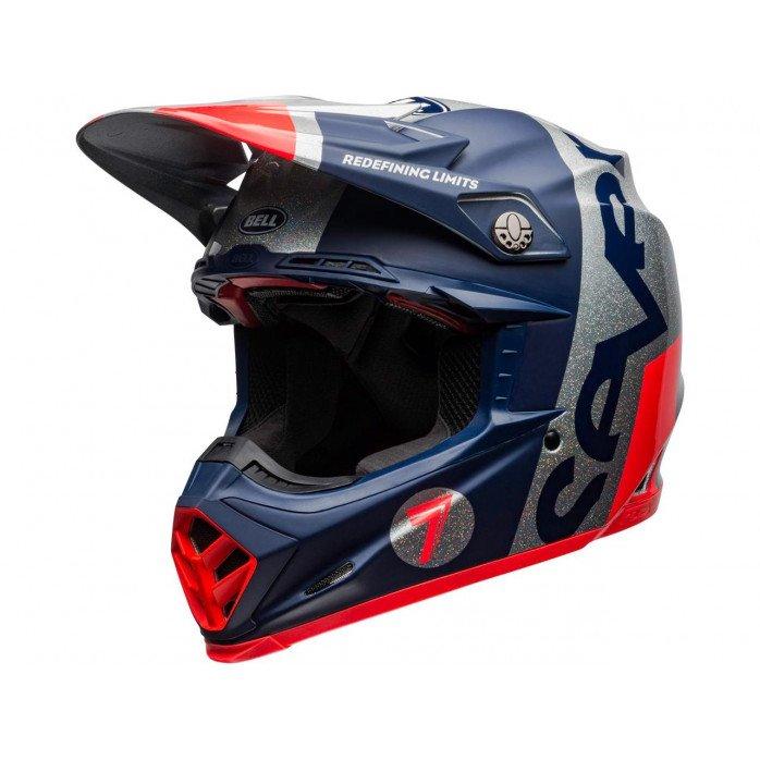 BELL Moto-9 Flex Helmet Seven Galaxy Navy/Silver Size XS