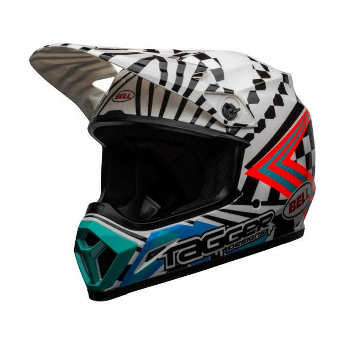 BELL MX-9 Mips Helmet Check Me Out Gloss Black/White Size S