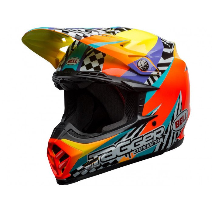 BELL Moto-9 Mips Helmet Tagger Breakout Orange/Yellow Size XL