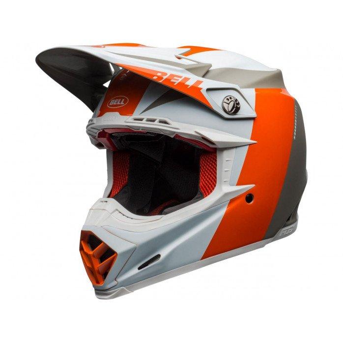 BELL Moto-9 Flex Helmet Division White/Orange/Sand Size S